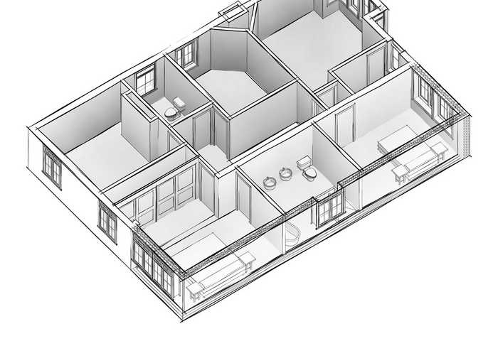 A Madienhead Planning 3D View of a First Floor Cutaway